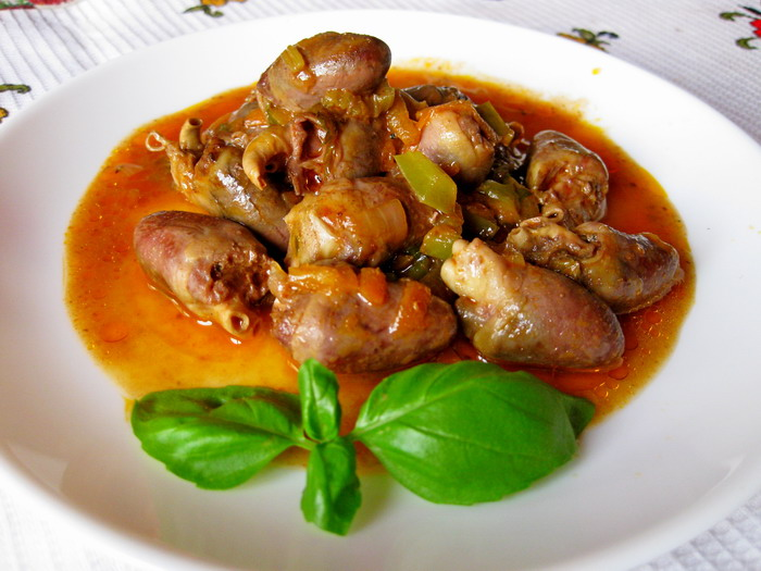 Куриные желудки сердечки печень рецепты пошагово