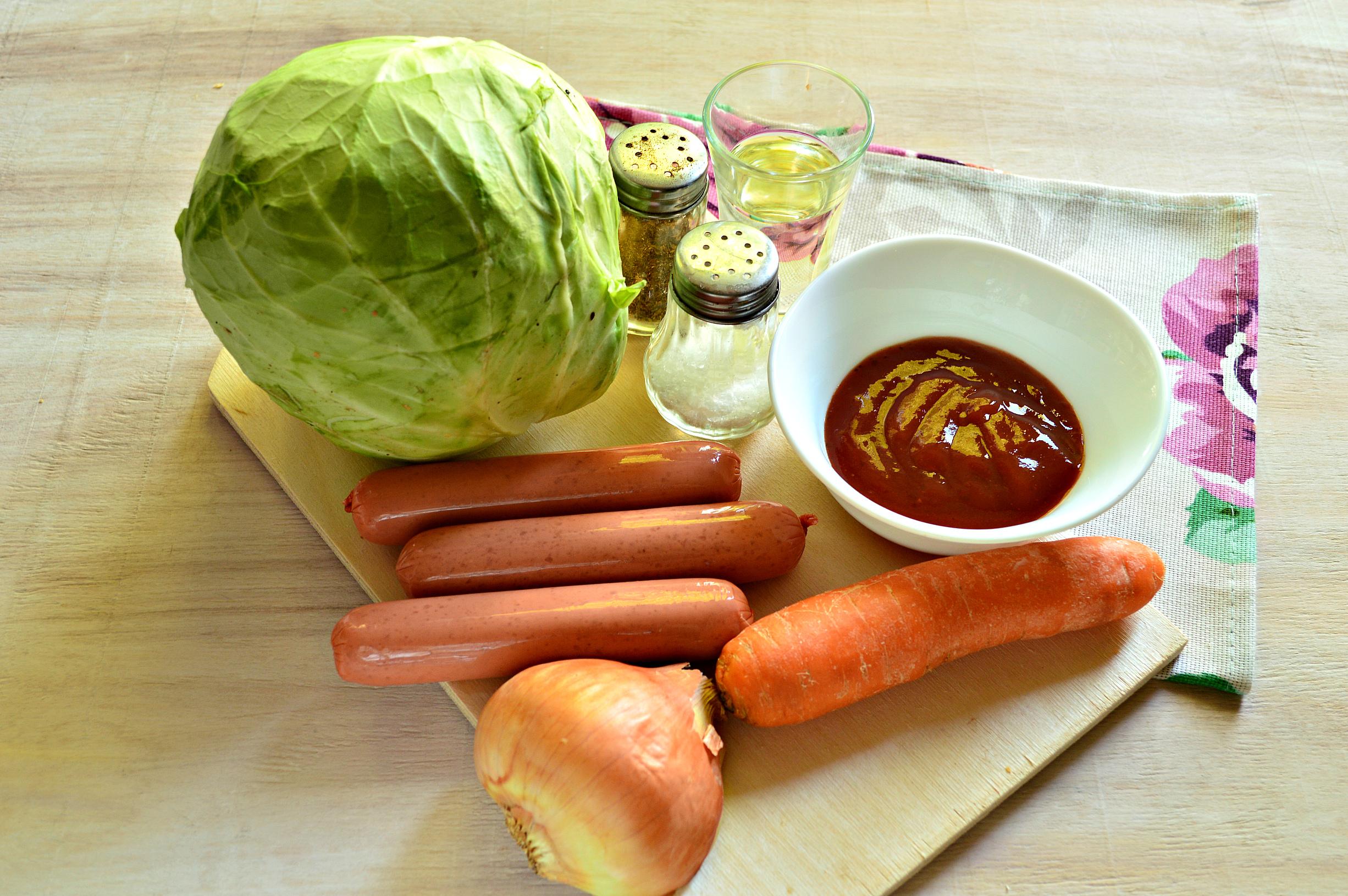 Солянка с сосиской из свежей капусты пошаговый рецепт с фото