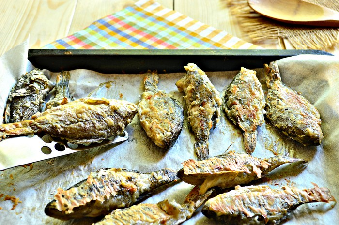 Приготовить рыбную мелочь