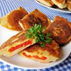Чебуреки с сыром и помидорами