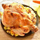 Цыпленок, фаршированный кабачками