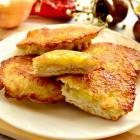 Двойные оладьи из курицы и картофеля