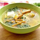 Гороховый суп на курином бульоне с грибами