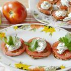 Кабачки с помидором и плавленым сырком