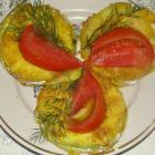 Кабачковые бутерброды со сметанным соусом