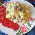 Картофель, тушеный со свининой