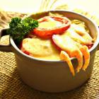 Картофельная запеканка с креветками