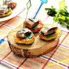 Картофельное канапе с сельдью