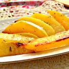 Картофельные дольки в сметано-соевом маринаде