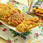 Картофельные оладьи с кукурузой