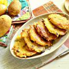 Картофельные оладьи с опятами