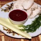 Клюквенный соус к мясу