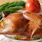 Копченая курица половинкой