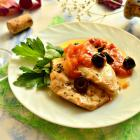 Курица в белом вине по-средиземноморски