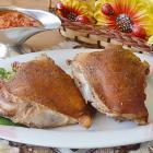 Куриные бедрышки горячего копчения