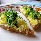 Легкие бутерброды с вареным яйцом и зеленью