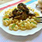 Печень с грибами в сметанном соусе