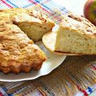 Пирог на сметане с тертыми яблоками