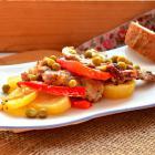 Рагу из свинины с картофелем с овощами