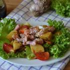 Салат из горбуши с молодым картофелем