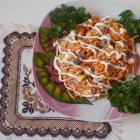 Салат из корейской моркови с печенью
