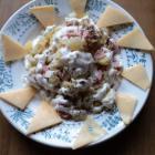Салат из квашеной капусты с колбасой