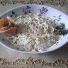 Салат из соленого лосося