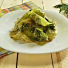 Салат из свежих кабачков с кунжутом
