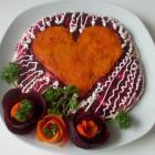 Селедка под шубой на День Святого Валентина