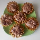 Сладкие домашние тарталетки со сметанным кремом