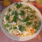 Слоеный салат  с сардиной