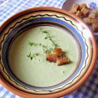 Суп-пюре из брокколи и зеленого горошка