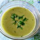 Суп-пюре со шпинатом, цуккини и телятиной