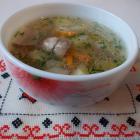 Суп из белых грибов на мясном бульоне