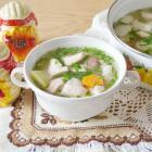 Суп с боровиками и свининой