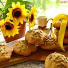 Творожное печенье с семечками