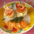 Вкусные канапе с горбушей