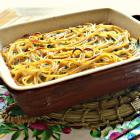 Запеканка из цельнозерновых спагетти