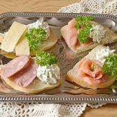 Бутерброды с мягким творожным сыром