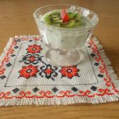Десерт из сметаны и желе