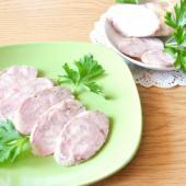 Домашняя свиная колбаса в искусственной оболочке