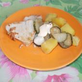 Филе индейки с овощами