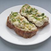 Горячий орехово-сырный бутерброд на бородинском хлебе