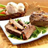 Говядина, запеченная в рукаве с болгарским перцем
