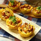 Картофельные тарталетки с куриным филе