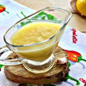Картофельный соус с лимоном и чесноком