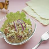 Крем-салат из семги