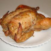 Курица с горчицей, запеченная (в фольге) в духовке