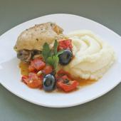 Курица с миндалем и сладким перцем