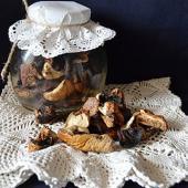 Лесные грибы сухие